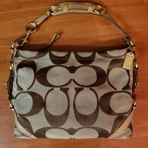 "COACH signature ""Carly"" large hobo shoulder bag"
